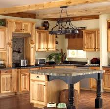 Types Of Kitchen Cabinet Kinds Of Kitchen Cabinets These Natural Hickory Kitchen Cabinets