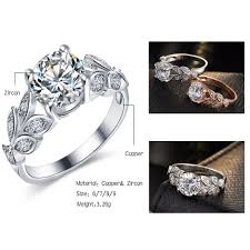wedding rings flower images 17km new silver color leaf flower wedding rings for women lover jpg