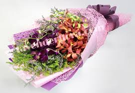 Orchid Bouquet Orchid Bouquet Lavender Flora Largest Online Florist With