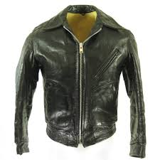 men s steerhide eisenhower jacket style 683 made out of genuine animal steerhide leather all hand cut with an original metallic talon zipper and soft
