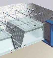 flooring metal deck 3d with girder metal beam deck