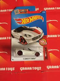 hotwheels corvette 14 corvette stingray 107 white wheels 2016 b grana toys