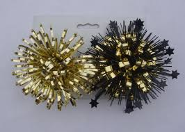 paper gift bows gold yellow 4inch pet firework fancy bows for wrapping paper