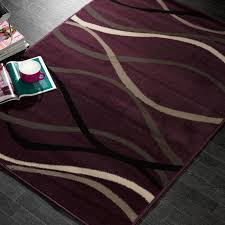 Modern Purple Rugs The Element Curve Rugs Are Power Loomed With 100 Heatset
