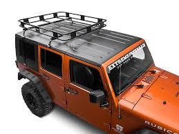 cargo rack for jeep wrangler surco wrangler safari removable top rack w basket kit 07 17