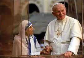 John Paul II and mother Teresa