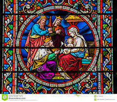 stained glass window stained glass window nativity scene baby jesus mary three wise