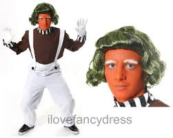 mens chocolate factory worker costume book film character
