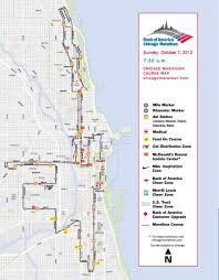 Bank Of America Locations Map by The Chicago Marathon The Course