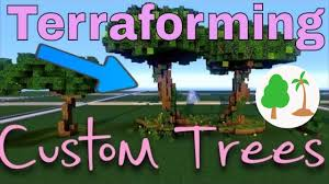 minecraft custom trees tutorial how to build minecraft