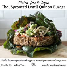 thai sprouted lentil quinoa burger u2014build a better burger u2014 ferns