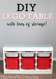 playroom table with storage diy table with tons of storage from thehowtocrew com home diy