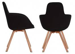 scoop chair high copper