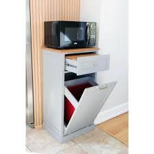 Wooden Kitchen Garbage Cans by Wooden Kitchen Trash Can Holder Plans Grey Microwave Kitchen Cart