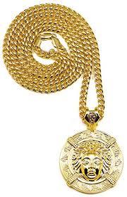 new necklace images Medusa necklace new large head gold color pendant jpg