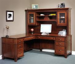 Black L Shaped Desk With Hutch Arlington Executive L Shaped Desk From Dutchcrafters Regarding L