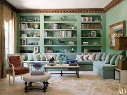 blue green living room blue green painted room inspiration photos architectural digest