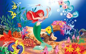 disney the little mermaid high resolution wallpaper for