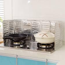 Stove Splash Guard | kitchen oil splash guard aluminum foil anti splash oil baffle easy