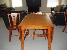Maple Table And Chairs Maple Drop Leaf Table And 4 Chairs For Sale Antiques Com