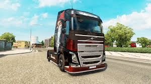 volvo truck trailer skin metallica for volvo trucks for euro truck simulator 2