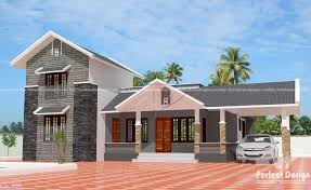 sloping roof modern house with 3 bedrooms u2013 kerala home design
