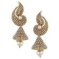 jhumkas earrings pearl flower indian pearl jhumka jhumki jewelry earings for women