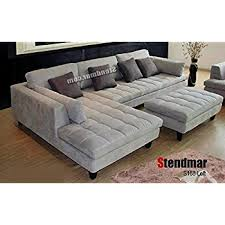 Microfiber Sectional Sofas 3pc Contemporary Grey Microfiber Sectional Sofa Chaise