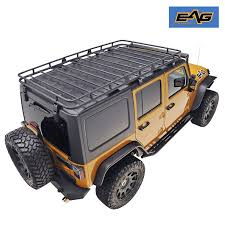 wrangler jeep 4 door black eag full width black roof rack cargo basket for 07 17 jeep