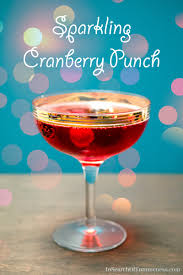 sparkling cranberry punch in search of yummy ness