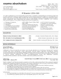 Best Resume Format For Uae by It Director Cto Cio Resume Sample