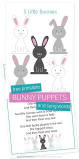 easter bunny puppets free printable picklebums