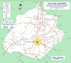 Maps De Mexico by Map Of Aguascalientes State Mexico