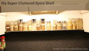 Over The Cabinet Spice Rack Clean Up Clean Out And Minimize Your Spice Rack Thrifty Little Mom