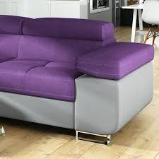 canap cuir violet canape canape convertible violet softline canapac lit design metro