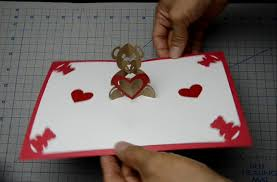 teddy bear pop up card tutorial youtube
