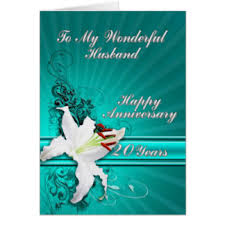 20th wedding anniversary cards invitations greeting photo