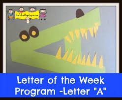 letter of the week letter a how to run a home daycare