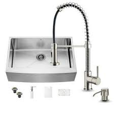kitchen sink and faucet sets farmhouse apron kitchen sinks kitchen sinks the home depot