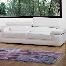 canapé 3 places en cuir blanc achat vente canapé sofa