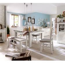 White Extending Dining Table And Chairs Opal Extendable Dining Table 4 Chairs And Bench In White Pine