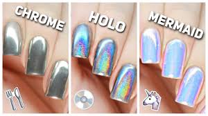 apply chrome holo u0026 mermaid nail powders perfectly youtube