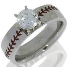 Baseball Wedding Ring by Women U0027s Cobalt Baseball Stitch Engagement Ring Cobalt