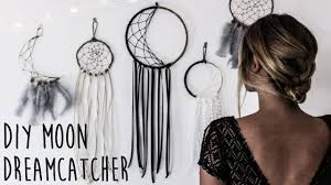 diy how to make a crescent moon dreamcatcher youtube