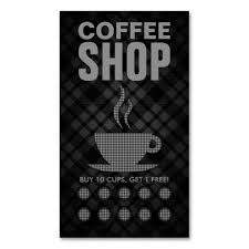 29 best coffee shop loyalty card templates images on pinterest
