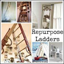 Wooden Ladder Bookshelf Plans by 104 Best Recycled Ladders Images On Pinterest Stairs Old Ladder