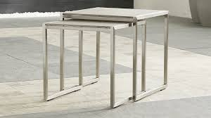 crate and barrel nesting tables dune nesting tables with pebbled glass set of two reviews crate