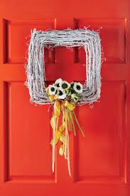 diy wreaths to decorate your front door for easter southern living
