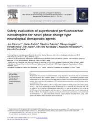 9 ns nanodroplets stroke intravenous therapy