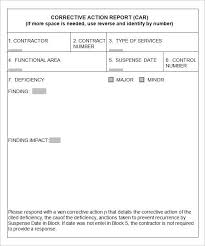 ncr report template corrective form template report format illustration lovely